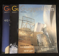 Lot of 3 VTG Guggenheim Magazines 1990s Gehry Bilbao, FL Wright, Picasso
