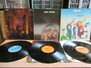 Abba - The Album/Arrival/The Visitors (Epic) 3 x LP
