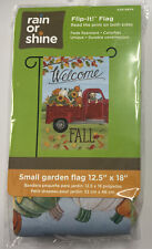 "Fall Haul Welcome 12.5"" X 18"" Garden Flag 27-3400-50 Flip It! Rain Or Shine"