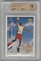 BGS 10 PRISTINE MICHAEL JORDAN 1994 Upper Deck World Cup Honorary Captain #HC3
