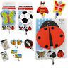 Kids Wall Hook Children Coat Door Hooks Clothes Hanging Butterfly Decor Hangers