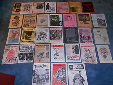 LOT OF 31 DIFFERENT LARGE ORIGINAL PRESSBOOK HERALDS