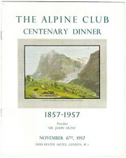 The Alpine Club Centenary Dinner 1857-1957