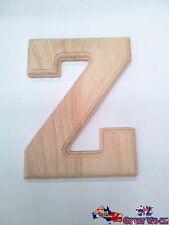 """Large Oak Wood Alphabet Letter """"Z"""" Natural Brown Uppercase Home Decor Art Craft"""