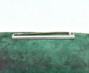 Vintage Sterling Silver Lapel Pin Bar brooch Peaky Blinders Gift Present Suit