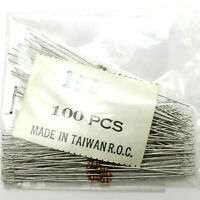 100 Pieces 150 OHM RESISTORS 1/8 W 5% CARBON FILM - NEW NOS Radio Repair Parts