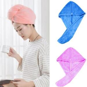 2pcs Rapid Fast Drying Towel Women Dry Hair Cap Soft Thick Absorbent Shower Hat