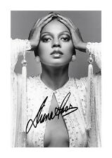 Diana Ross (2) A4 signed photograph picture poster. Choice of frame.