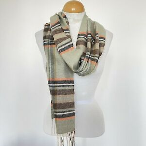 Chelsey by JOSEPH Scarf Unisex Cashmere Wrapper 12X70 Fringe Striped MSRP $185