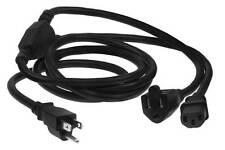 6ft 16AWG 1-to-2 Power Cord Splitter SJT (NEMA 5-15P to 1 NEMA 5-15R + 1 IEC320)