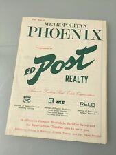 Vintage 1974 Landis-Murphy PHOENIX Detailed Foldout Map **Ed Post Realty** Sharp
