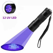 UV Lampe 12 LED Taschenlampe 395 nm Scorpion Bernstein Schwarzlicht Handlampe