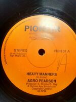 "Agro Pearson-Heavy Manners 7"" Vinyl Single 1977 UK REGGAE"