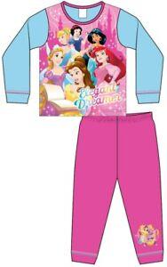 Disney Girls Kids Princess Pyjamas Sleepwear PJs Nightsuit Jimjams Bella New Pj