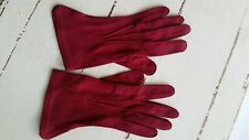 1950s Vintage Wear Right Foremost In Gloves Merlot Red Doubleplex Suede Size 6.5