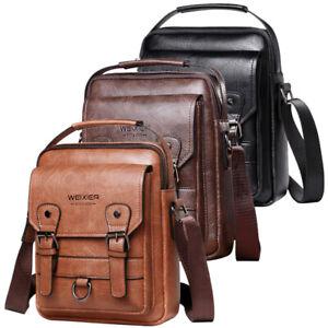 Leather Messenger Bag for Men Cross Body Business Shoulder Bag Office Satchel