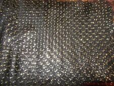 TWO YARDS OF BEAUTIFUL BLACK TULLE WITH GOLD DOTS
