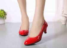 WOMENS LADIES LOW MID HIGH HEEL POINTED TOE PUMPS SMART WORK COURT SHOES SIZE