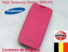 COQUE POUR SAMSUNG GALAXY S4 N9500 FLIP COVER CACHE BATTERIE Pink