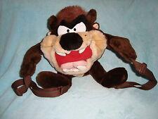 "Looney Tunes Taz / Tasmania Devil Plush Backpack/ Purse 15"""