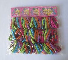 Lot of 12 (1 Dozen) Elastic Hair Band Ponytail Holder Hair Ties For Girls .