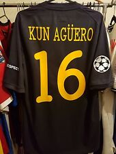 Manchester City Football Shirt Kun Aguero 16 Champions League 2011/12 Third