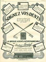Publicité ancienne brosse à dents docteur Lenief 1925 issue de magazine
