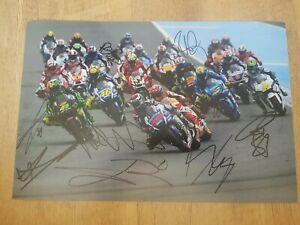 Moto gp Multi Signed Photo, Silverstone, Rossi, Marquez *PHOTO PROOF + COA*