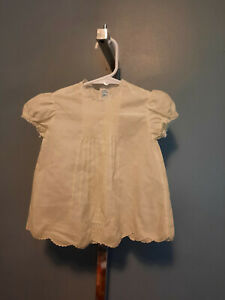 Vintage Feltman Brothers Baby Girl Yellow Lace Embroidery Pintucks 0-3 Months