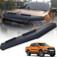 FRONT CAR BRA END MASK MATTE BLACK FIT FOR FORD RANGER MK2 PX2 XLT 2015 16 17