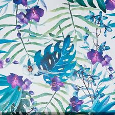 Green Blue Purple White Tropical Palm Tree Leaf Leaves Jungle Nature Wallpaper