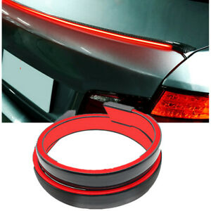 12V Red LED Truning Light Brake LampCar cExterior Rear Spoiler Lip Tail Wing 1Pc