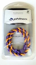 "PHITEN TORNADO TITANIUM NECKLACE 18"" PURPLE AND GOLD (LOS ANGELES LAKERS) NEW"
