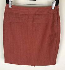 The Limited Sz 2 Orange Straight Pencil Skirt