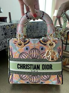 Christian Dior Lady Medium D-Lite Canvas handbag