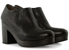 NEW COCLICO SHOES SABLE CLOG BOOTIES BLACK LEATHER PLATFORM HEELS NIB $445 39
