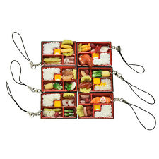 Simulation Sushi Key Chain Keyring Fake Japanese Food Box Lanyard Keychain EB