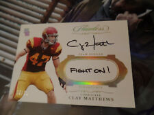 Clay Mathews /10 autograph FIGHT ON 2017 Panini Flawless Team Slogan auto signed