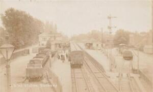 Early SUNBURY LSW  Railway Station  Middlesex  Photo Postcard