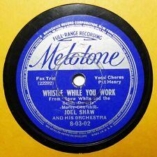 JOEL SHAW GENE KARDOS Whistle While You Work (Snow White) MELOTONE 78RPM HEAR