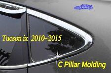 C Pillar Molding Chrome Cover Garnish 2Pcs B902 for Hyundai 2010~ 2015 Tucson ix