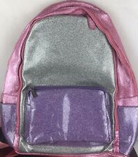 Bari Lynn Glitter Backpack School Size