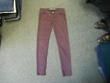 "Denim Co Skinny Jeans Size 14 Leg 31"" Faded Dark Maroon Ladies Jeans"