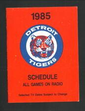 Detroit Tigers--1985 Pocket Schedule--WKZO