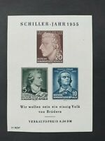 East Germany DDR 1955 The 150th Anniversary Death of Schiller minisheet MNH