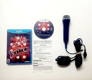 The Voice: I Want You (Nintendo Wii U 2014) Complete Mic Bundle with Microphone