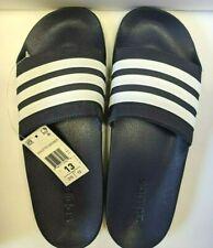 Mens Adidas Adilette Stripes Shower Sandal Navy White Athletic AQ1703 Size 13