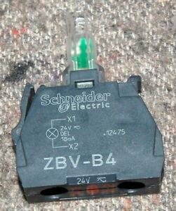 SCHNEIDER ZBV-B4 ZBVB4 MODULE LIGHT BLOCK 24V AC/DC RED LED for 22 mm HEAD
