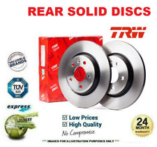 Rear SOLID BRAKE DISCS for RENAULT MEGANE I Coach 2.0 16V IDE 1999-2003 (238mm)
