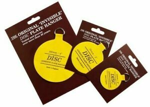DISC PLATE HANGER -  PLAQUE HOLDER, INVISIBLE HOOK for Porcelain, china, plates